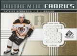 2011/12 Upper Deck SP Game Used Authentic Fabrics Gold #AFPB3 Patrice Bergeron S D