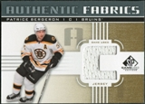 2011/12 Upper Deck SP Game Used Authentic Fabrics Gold #AFPB1 Patrice Bergeron C D
