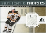 2011/12 Upper Deck SP Game Used Authentic Fabrics Gold #AFPB4 Patrice Bergeron U C