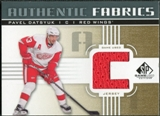 2011/12 Upper Deck SP Game Used Authentic Fabrics Gold #AFPD4 Pavel Datsyuk C C