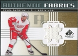 2011/12 Upper Deck SP Game Used Authentic Fabrics Gold #AFPD1 Pavel Datsyuk # C