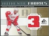 2011/12 Upper Deck SP Game Used Authentic Fabrics Gold #AFPD3 Pavel Datsyuk 3 D