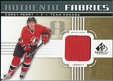 2011/12 Upper Deck SP Game Used Authentic Fabrics Gold #AFPE4 Corey Perry O C