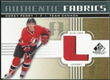 2011/12 Upper Deck SP Game Used Authentic Fabrics Gold #AFPE3 Corey Perry L C