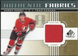 2011/12 Upper Deck SP Game Used Authentic Fabrics Gold #AFPE1 Corey Perry D C
