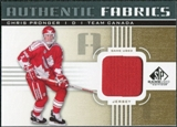 2011/12 Upper Deck SP Game Used Authentic Fabrics Gold #AFPG4 Chris Pronger O C