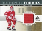 2011/12 Upper Deck SP Game Used Authentic Fabrics Gold #AFPG1 Chris Pronger D C