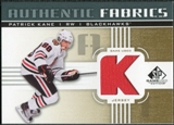 2011/12 Upper Deck SP Game Used Authentic Fabrics Gold #AFPK3 Patrick Kane K C
