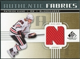 2011/12 Upper Deck SP Game Used Authentic Fabrics Gold #AFPK4 Patrick Kane N C