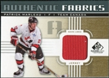 2011/12 Upper Deck SP Game Used Authentic Fabrics Gold #AFPM4 Patrick Marleau O C