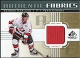 2011/12 Upper Deck SP Game Used Authentic Fabrics Gold #AFPM1 Patrick Marleau D C