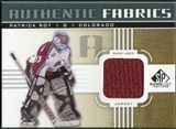 2011/12 Upper Deck SP Game Used Authentic Fabrics Gold #AFPR1 Patrick Roy O C