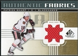 2011/12 Upper Deck SP Game Used Authentic Fabrics Gold #AFPS1 Patrick Sharp # B