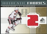 2011/12 Upper Deck SP Game Used Authentic Fabrics Gold #AFPS3 Patrick Sharp 2 C
