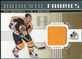 2011/12 Upper Deck SP Game Used Authentic Fabrics Gold #AFRB4 Ray Bourque D D