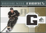2011/12 Upper Deck SP Game Used Authentic Fabrics Gold #AFRG2 Ryan Getzlaf G D