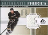 2011/12 Upper Deck SP Game Used Authentic Fabrics Gold #AFRG1 Ryan Getzlaf E D