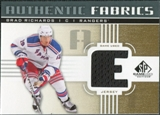 2011/12 Upper Deck SP Game Used Authentic Fabrics Gold #AFRI2 Brad Richards E D