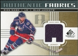 2011/12 Upper Deck SP Game Used Authentic Fabrics Gold #AFRN1 Rick Nash A C