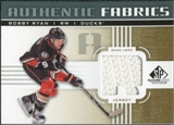 2011/12 Upper Deck SP Game Used Authentic Fabrics Gold #AFRY3 Bobby Ryan R D
