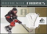 2011/12 Upper Deck SP Game Used Authentic Fabrics Gold #AFRY4 Bobby Ryan Y D