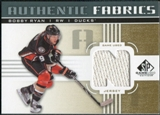 2011/12 Upper Deck SP Game Used Authentic Fabrics Gold #AFRY2 Bobby Ryan N C