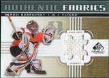 2011/12 Upper Deck SP Game Used Authentic Fabrics Gold #AFSB1 Sergei Bobrovsky # D