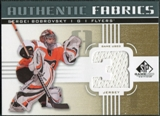 2011/12 Upper Deck SP Game Used Authentic Fabrics Gold #AFSB2 Sergei Bobrovsky 3 C