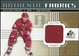 2011/12 Upper Deck SP Game Used Authentic Fabrics Gold #AFSD4 Shane Doan O D