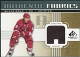 2011/12 Upper Deck SP Game Used Authentic Fabrics Gold #AFSD1 Shane Doan A C
