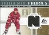 2011/12 Upper Deck SP Game Used Authentic Fabrics Gold #AFSD3 Shane Doan N C