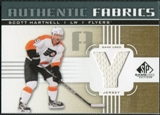 2011/12 Upper Deck SP Game Used Authentic Fabrics Gold #AFSH4 Scott Hartnell Y C
