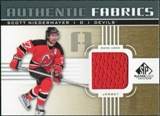 2011/12 Upper Deck SP Game Used Authentic Fabrics Gold #AFSN4 Scott Niedermayer D C