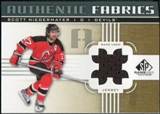 2011/12 Upper Deck SP Game Used Authentic Fabrics Gold #AFSN1 Scott Niedermayer # C
