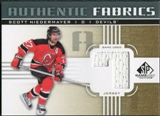 2011/12 Upper Deck SP Game Used Authentic Fabrics Gold #AFSN3 Scott Niedermayer 7 C