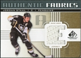 2011/12 Upper Deck SP Game Used Authentic Fabrics Gold #AFST1 Jordan Staal E D