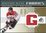 2011/12 Upper Deck SP Game Used Authentic Fabrics Gold #AFSW2 Shea Weber G C