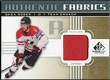 2011/12 Upper Deck SP Game Used Authentic Fabrics Gold #AFSW1 Shea Weber D C