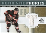 2011/12 Upper Deck SP Game Used Authentic Fabrics Gold #AFTO4 Jonathan Toews T C