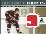 2011/12 Upper Deck SP Game Used Authentic Fabrics Gold #AFTO2 Jonathan Toews 9 C