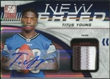 2011 Donruss Elite New Breed Jersey Autographs Prime #32 Titus Young Patch /10
