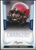 2011 Panini Prestige Draft Picks Light Blue #299 Vincent Brown /999