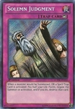 Yu-Gi-Oh Legendary Collection 3 1st Edition Single Solemn Judgment Secret Rare