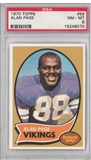 1970 Topps Football Alan Page PSA 8 (NM-MT) *8070