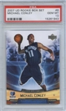2007/08 Upper Deck NBA Rookie Box Set #6 Mike Conley RC PSA 10 Gem Mint