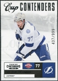 2011/12 Panini Contenders #139 Victor Hedman CC /999
