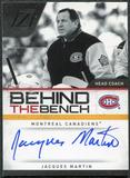 2010/11 Panini Zenith Behind The Bench Autographs #10 Jacques Martin Autograph /199