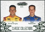 2012 Press Pass Showcase Green #58 Brad Keselowski AJ Allmendinger 3/5