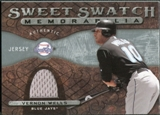2009 Upper Deck Sweet Spot Swatches #VW Vernon Wells