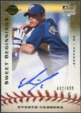 2009 Upper Deck Sweet Spot #109 Everth Cabrera RC Autograph 432/699